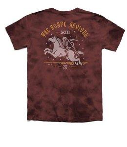 Roark Revival Special Delivery Tie Dye Burgundy Tee