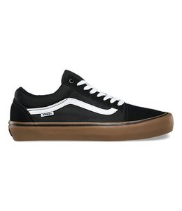 Vans Old Skool Pro Black/Gum/White Skate Shoes