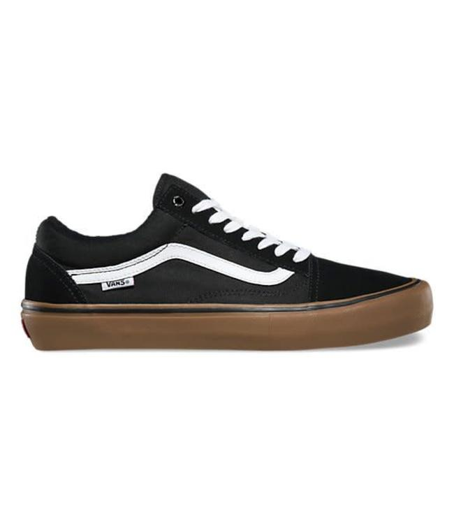Vans Old Skool Pro Black/Gum/White Skate Shoes