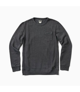 Reef Coast Heathered Black Crew