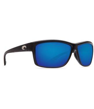 Costa Del Mar Mag Bay Shiny Black with Blue Lenses 580P Sunglasses