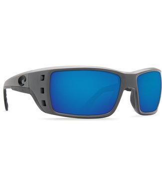 Costa Del Mar Permit Matte Gray 580P Blue Mirror Sunglasses