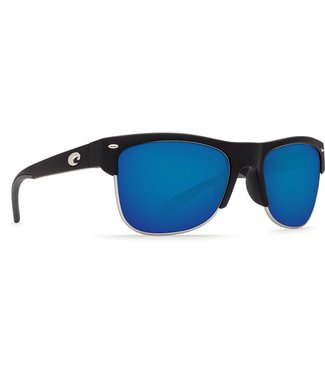 Costa Del Mar Pawleys Matte Black 580P Blue Mirror Lens Sunglasses