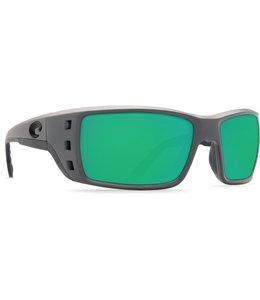 Costa Del Mar Permit Green Mirror 580P Matte Gray Frame