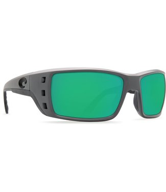 Costa Del Mar Permit Matte Gray 580P Green Mirror Lens Sunglassses
