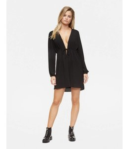 TAVIK Long Sleeve Mini Crepe Dress