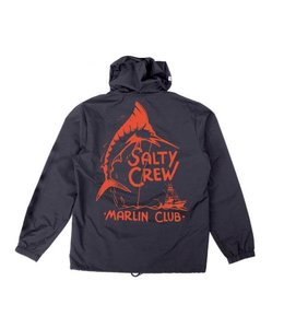 Salty Crew Marlin Club Navy Snap Jacket
