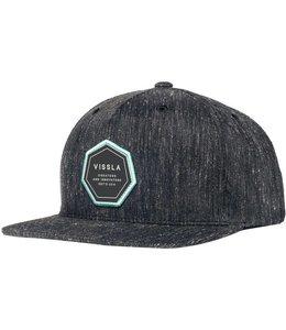 VISSLA Established Black Snapback Hat