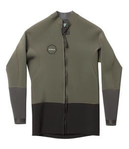 VISSLA 2mm Dark Olive Front Zip Jacket