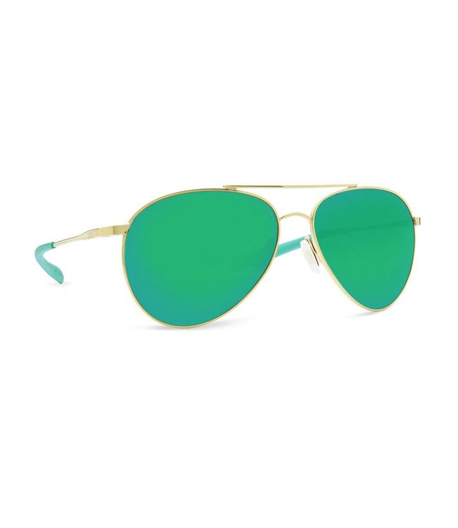 Costa Del Mar Piper Shiny Gold 580P Green Mirror Lens Sunglasses