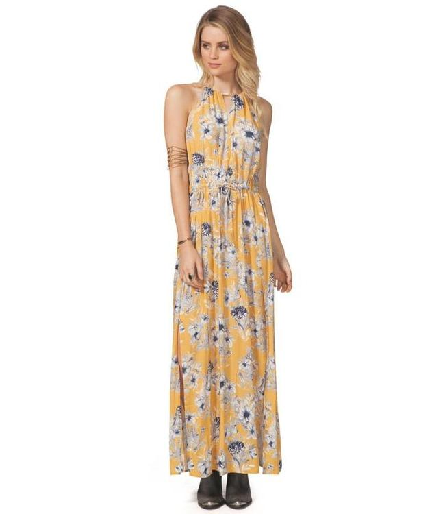 Rip Curl Lovely Day Mustard Maxi Dress