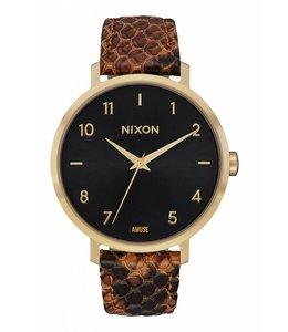 Nixon x Amuse Society Arrow Leather Gold Rust Watch