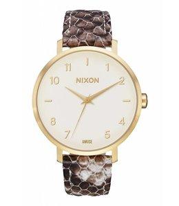 Nixon x Amuse Society Arrow Leather Taupe Watch