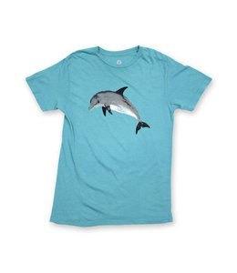 Duvin Design Co. Dolfun Teal Short Sleeve Tee