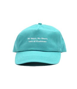 Duvin Design Co. No Shirt Teal Snapback Hat