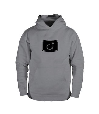 Avid Iconic Fishing Charcoal Black Hoodie