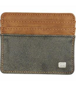 Billabong Dimension Card Holder Charcoal Tan Wallet