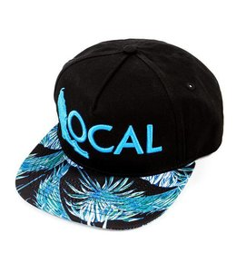 The Local Brand Paradise Palm Black and Teal Snapback Hat