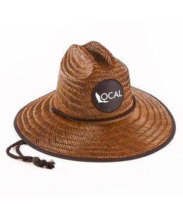 The Local Brand Sunblocker Dark Straw Lifeguard Hat