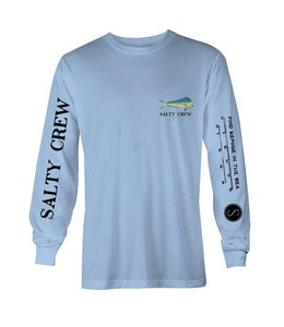 Salty Crew Angry Bull Long Sleeve Light Blue Tee