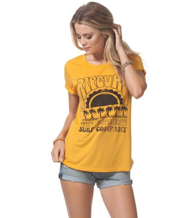 Rip Curl Heat Wave Yellow Tee