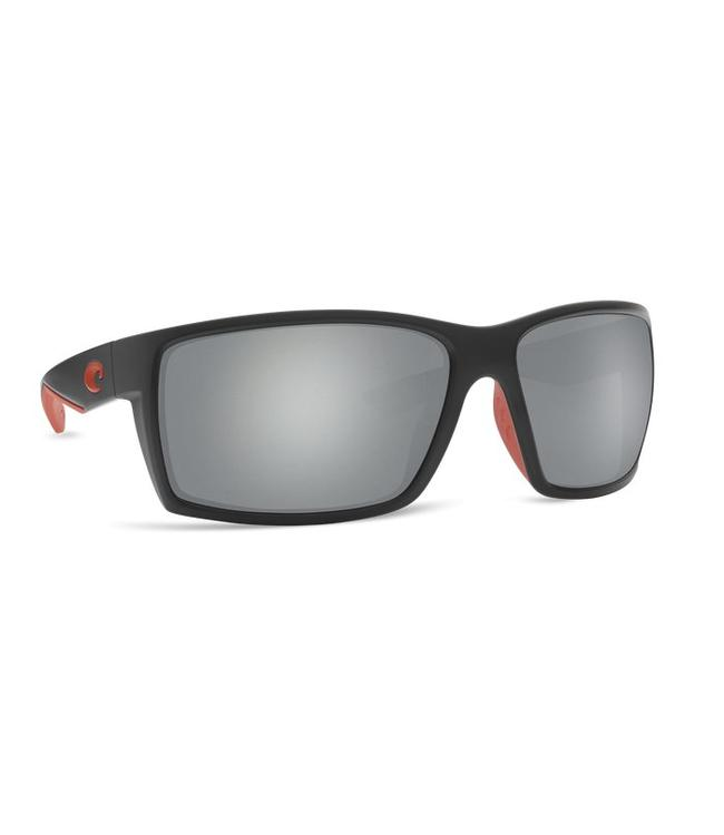 Costa Del Mar Reefton Race Black 580G Gray Silver Mirror Lens Sunglasses