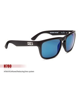 RCI Optics Spanish House Matte Black Atlantic Blue Lense