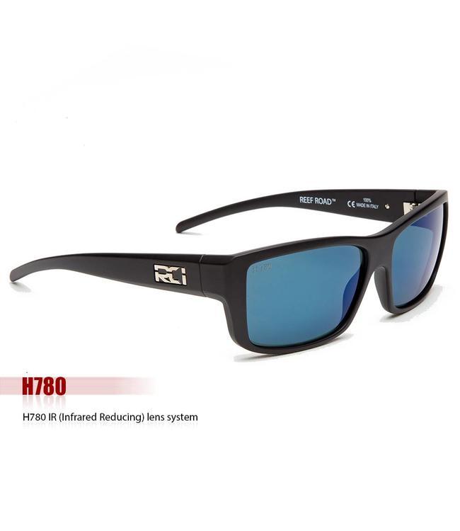RCI Optics Reef Road Matte Black Atlantic Blue Mirror Lense