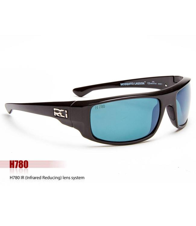RCI Optics Mosquito Lagoon Matte Black Grey Atlantic Blue Mirror H780  Lense