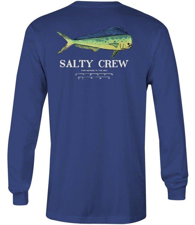 Salty Crew Angry Bull Long Sleeve Navy Tee