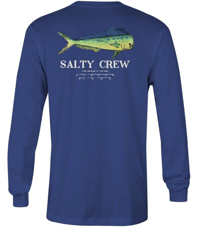 Salty Crew Angry Bull Long Sleeve Navy Tee