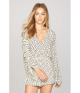 Amuse Society Coastal Escape Sand Dollar Romper