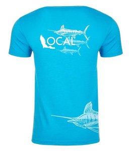 The Local Brand Marlin Flag Blue Short Sleeve Tee