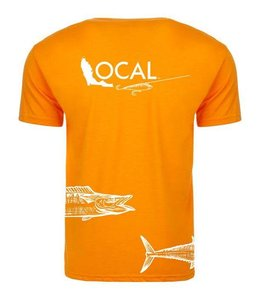 The Local Brand Wahoo Flag Orange Short Sleeve Tee