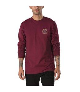 Vans Established 66 Burgandy Long Sleeve Tee