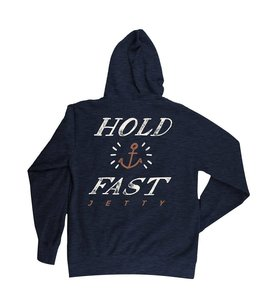 Hold Fast Navy Hoodie