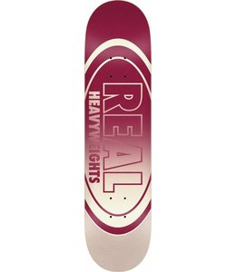 "REAL Heavyweights Construction Burgundy 8.5"" Deck"