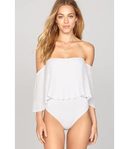 Amuse Society Change Of Heart White Bodysuit