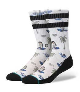 Stance Surfin Monkey White Socks