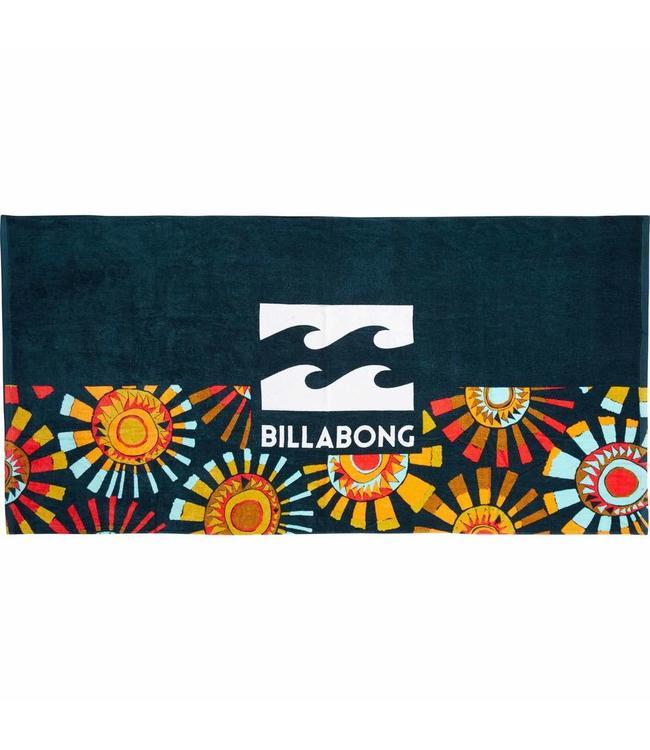 Billabong Waves Navy and Orange Towel