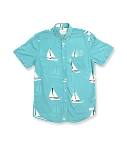 Duvin Design Co. Day In Paradise Blue Buttondown Shirt