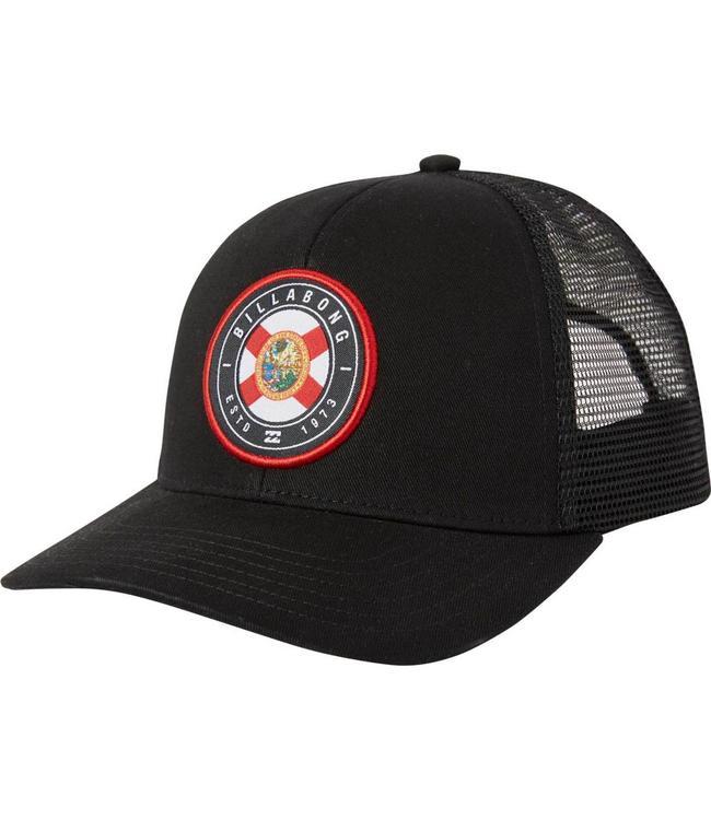 Billabong Native Florida Rotor Black Trucker Hat
