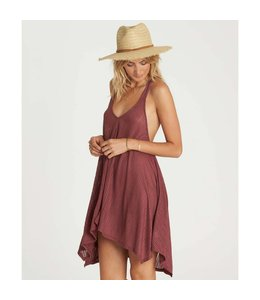 Billabong Twisted View Plum Berry Cover Up Dress