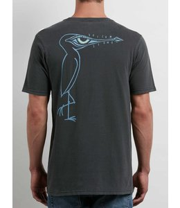 Volcom Burch Bird  Black Short Sleeve Tee