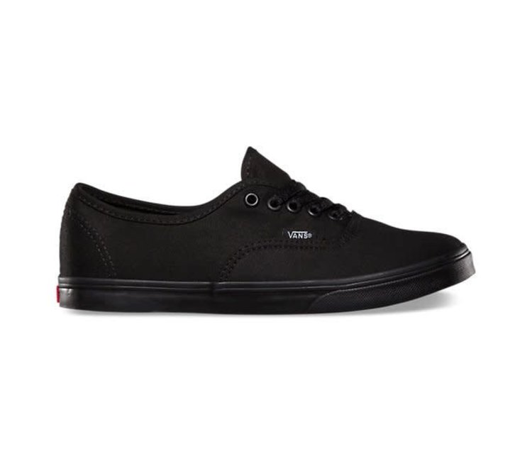 vans authentic lo pro black and white