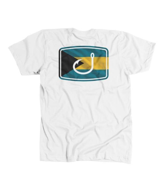 Avid Bahamas Flag White Tee
