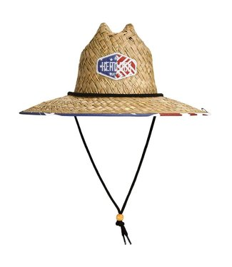 Hemlock Hat Co. Old Glory Straw Lifeguard Hat