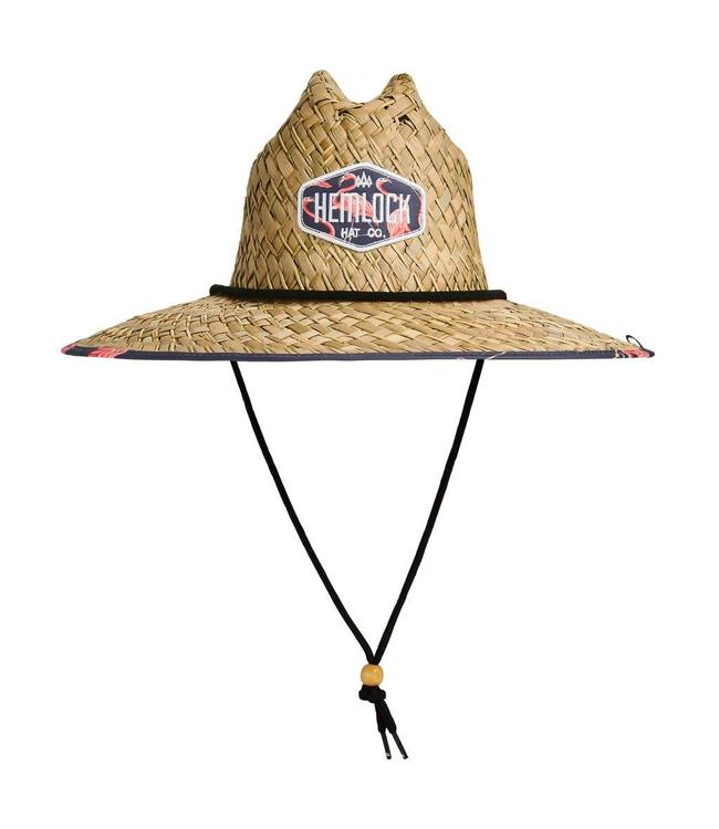 Hemlock Hat Co. Flock Straw Lifeguard Hat
