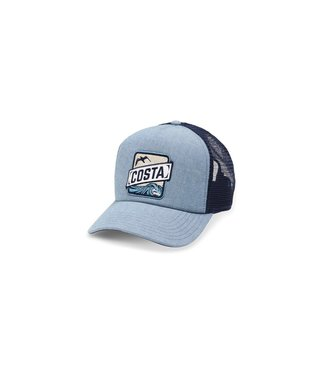 Costa Del Mar Blue Chambray Trucker Hat