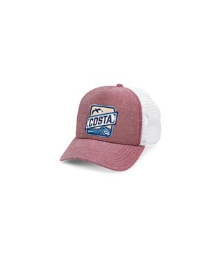 Costa Del Mar Chambray Maroon Trucker Hat